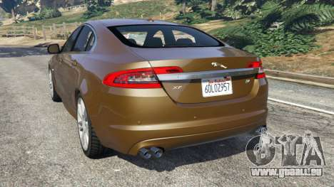 GTA 5 Jaguar XFR 2010 hinten links Seitenansicht