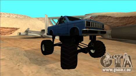 Bobcat Monster Truck pour GTA San Andreas vue arrière