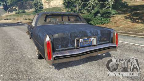 GTA 5 Cadillac Fleetwood Brougham 1985 [rusty] hinten links Seitenansicht