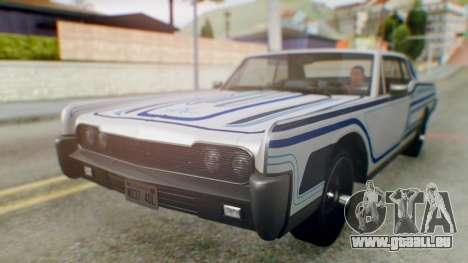 GTA 5 Vapid Chino Tunable pour GTA San Andreas vue de dessous