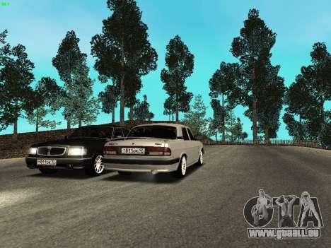 GAZ 3110 Volga für GTA San Andreas Rückansicht