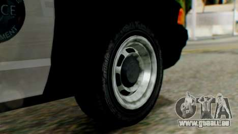 GTA 5 Police LV pour GTA San Andreas sur la vue arrière gauche