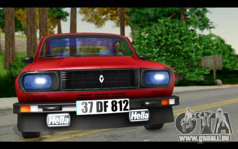 Renault 12 Toros pour GTA San Andreas sur la vue arrière gauche