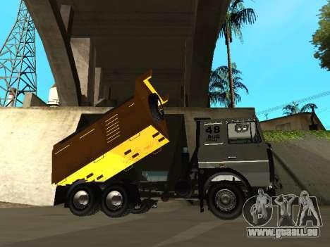 MAZ 551605-221-024 pour GTA San Andreas sur la vue arrière gauche