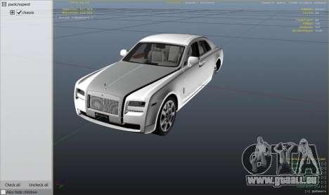GTA 5 Rolls Royce Ghost 2014 droite vue latérale