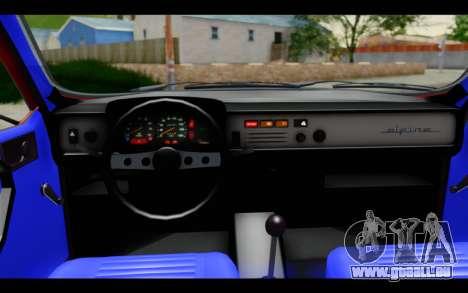 Renault 12 Toros pour GTA San Andreas vue intérieure