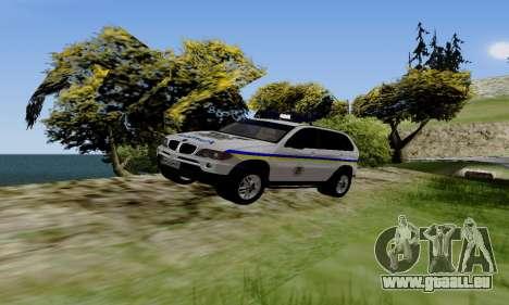 BMW X5 Ukranian Police pour GTA San Andreas laissé vue