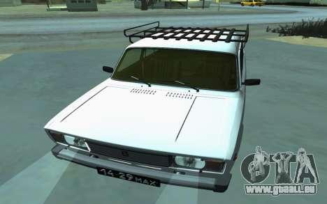 VAZ 2105 pour GTA San Andreas pour GTA San Andreas vue arrière