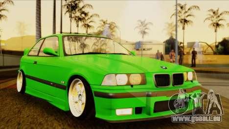 BMW M3 E36 [34RS671] pour GTA San Andreas vue de droite