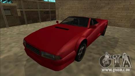Cheetah Cabrio pour GTA San Andreas vue de droite