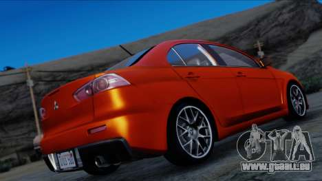 Mitsubishi Lancer Evolution X Tunable New PJ für GTA San Andreas linke Ansicht