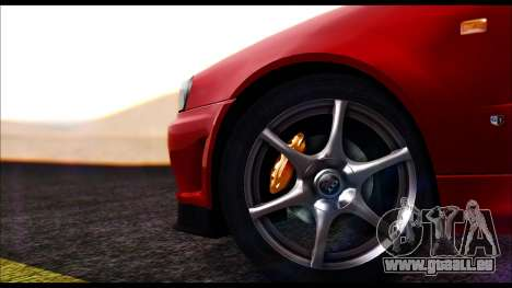 Nissan Skyline R-34 GT-R V-spec 1999 No Dirt für GTA San Andreas zurück linke Ansicht