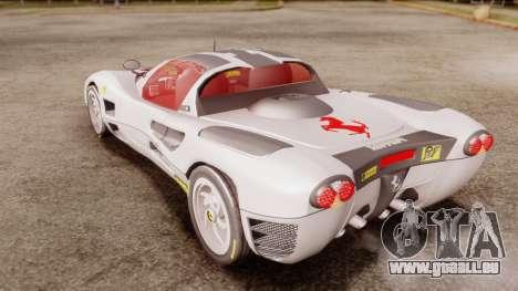 Ferrari P7 Horse für GTA San Andreas zurück linke Ansicht