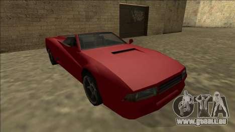 Cheetah Cabrio pour GTA San Andreas vue intérieure