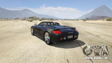 GTA 5 Porsche Carrera GT 2.0 hinten links Seitenansicht