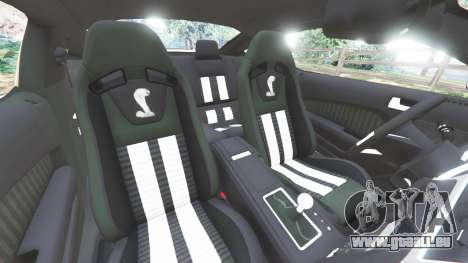 GTA 5 Ford Mustang Shelby GT500 2013 v2.0 droite vue latérale