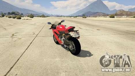 GTA 5 Ducati 1299 Panigale S v1.1 hinten links Seitenansicht