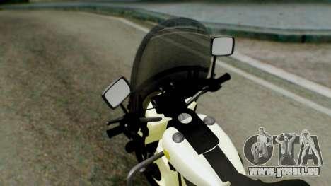 New Police Bike für GTA San Andreas Rückansicht