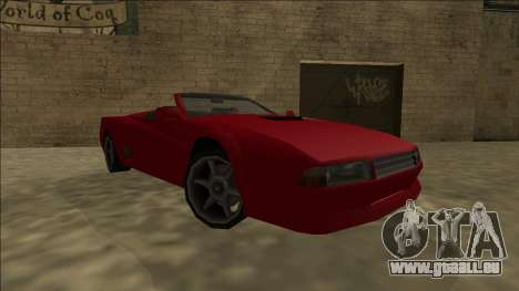Cheetah Cabrio pour GTA San Andreas sur la vue arrière gauche