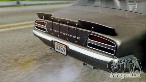 GTA 5 Imponte Nightshade IVF für GTA San Andreas Rückansicht