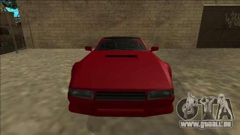 Cheetah Cabrio pour GTA San Andreas vue arrière