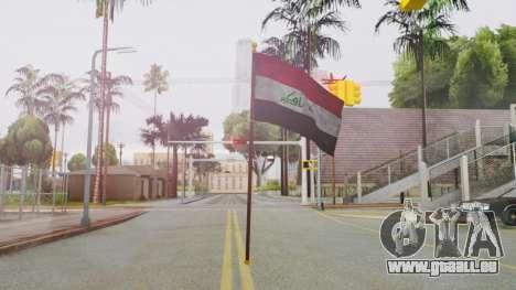 Iraq Flag HD für GTA San Andreas zweiten Screenshot