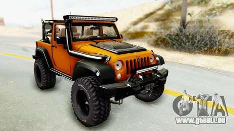 Jeep Wrangler Off Road für GTA San Andreas Rückansicht