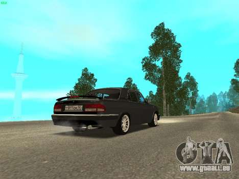 GAZ Volga 3110 pour GTA San Andreas laissé vue