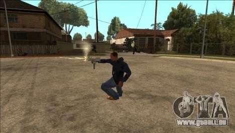 Supplémentaires animation TEC-9 pour GTA San Andreas deuxième écran