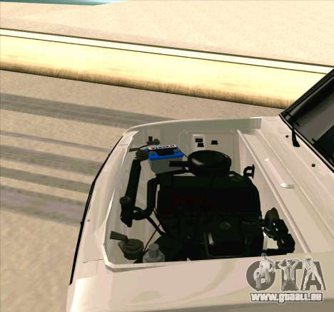 VAZ 2106 [ARM] für GTA San Andreas Innenansicht