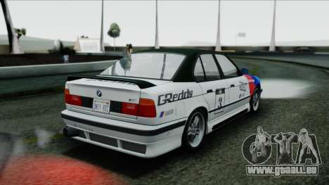 BMW M5 E34 US-spec 1994 (Full Tunable) für GTA San Andreas Innenansicht