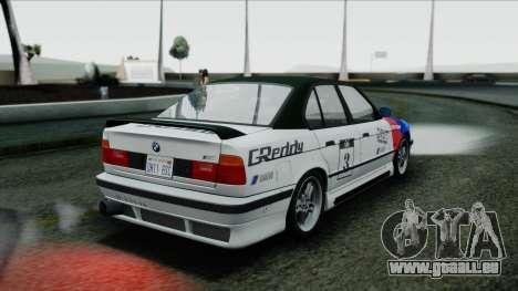 BMW M5 E34 US-spec 1994 (Full Tunable) pour GTA San Andreas vue intérieure