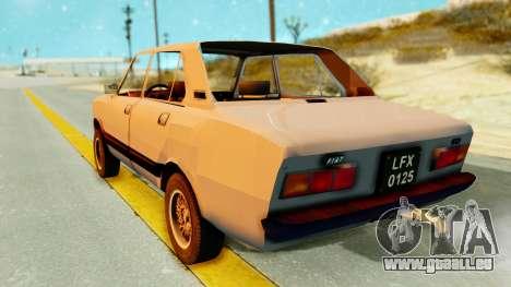 Fiat 132 pour GTA San Andreas laissé vue