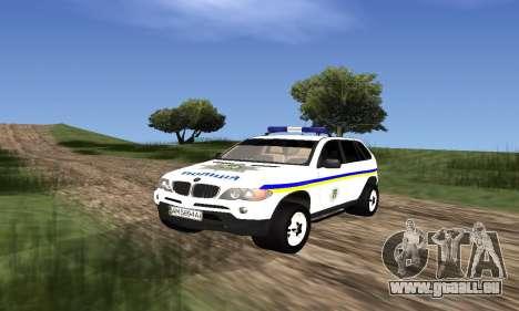 BMW X5 Ukranian Police pour GTA San Andreas