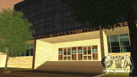 LSPD, All Saints Hospital & Skyscrapers 2016 pour GTA San Andreas quatrième écran
