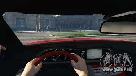 GTA 5 Mercedes-Benz E63 AMG v2.1 arrière droit vue de côté
