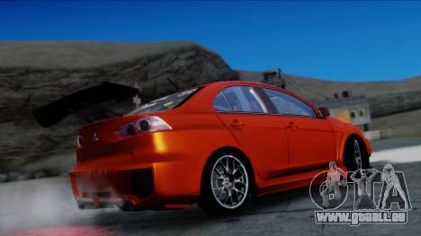 Mitsubishi Lancer Evolution X Tunable New PJ für GTA San Andreas Rückansicht