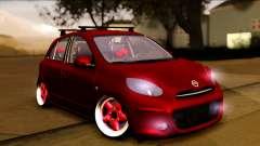 Nissan March 2011 Hellaflush pour GTA San Andreas
