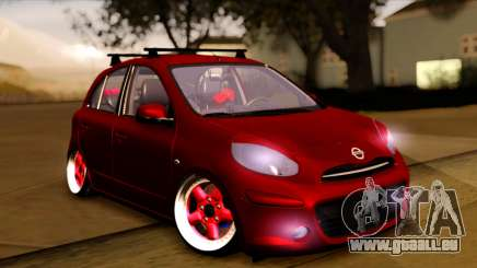Nissan March 2011 Hellaflush pour GTA San Andreas