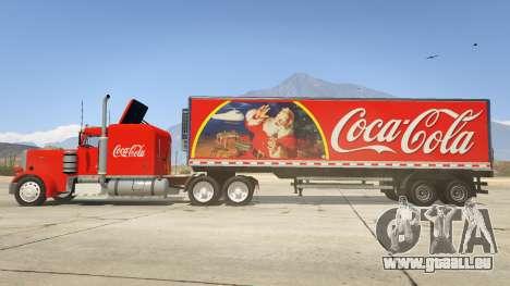 GTA 5 Coca Cola Truck v1.1 linke Seitenansicht
