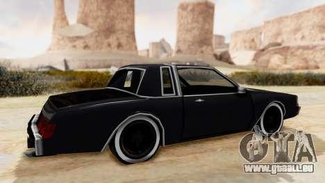MajesticX pour GTA San Andreas sur la vue arrière gauche