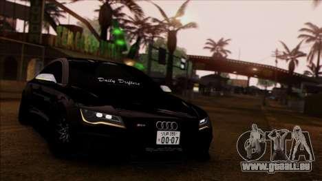 Audi RS7 Daily Drifters pour GTA San Andreas sur la vue arrière gauche
