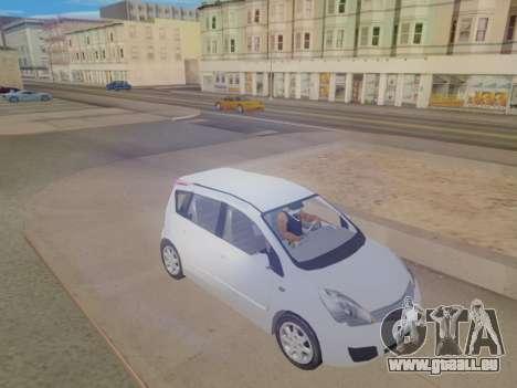 Nissan Note v1.0 Final pour GTA San Andreas vue de droite