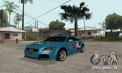 Audi TT-RS Tunable pour GTA San Andreas vue arrière