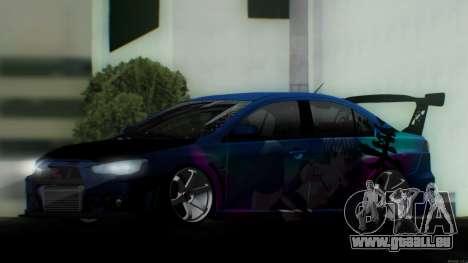 Mitsubishi Lancer X by Venceslav Sexy pour GTA San Andreas vue de droite