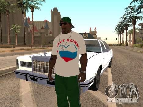 T-shirt j'aime la Russie pour GTA San Andreas