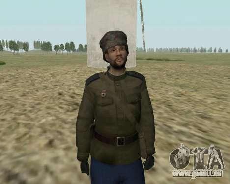 La collection de Soldats de l'armée rouge pour GTA San Andreas deuxième écran