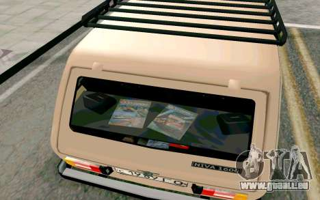 VAZ Niva pour GTA San Andreas vue de dessus