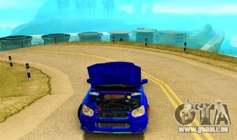 Subaru Impreza WRX STI Spec-C pour GTA San Andreas vue intérieure