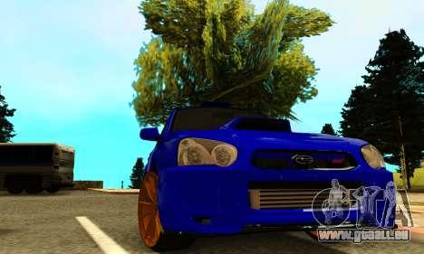 Subaru Impreza WRX STI Spec-C pour GTA San Andreas vue arrière